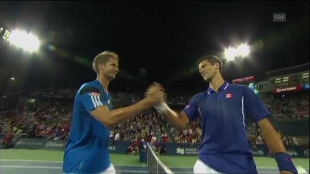 Satz und Matchball von Djokovic gegen Mayer (unkommentiert)