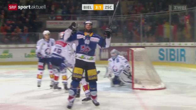 Video «Eishockey: NLA, Biel - ZSC» abspielen