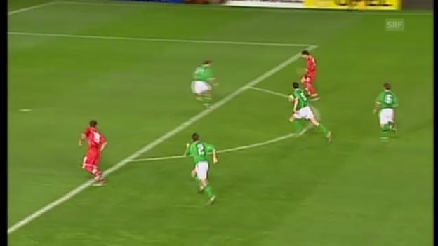 Video «Celestinis Tor gegen Irland 2002» abspielen
