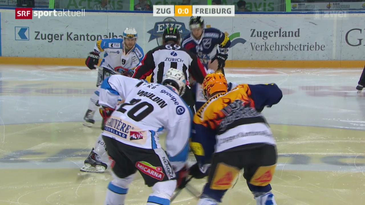 Eishockey: NLA, Zug-Freiburg