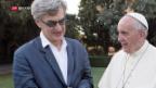 Video «Papst Franziskus auf der Leinwand» abspielen