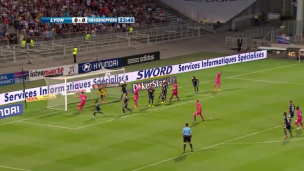 Video «Die Torchancen von GC gegen Lyon» abspielen