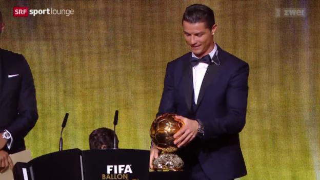 Video «Fussball: Verleihung des Ballon d'Or in Zürich» abspielen