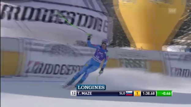 Video «Ski alpin: Tina Maze bei der Abfahrt in Cortina («sportlive»)» abspielen