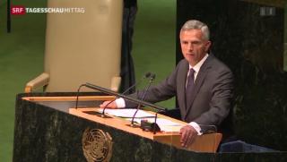 Video «Burkhalters Rede vor der UNO» abspielen