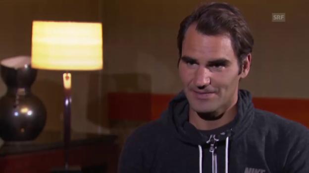 Video «Federer über die Erwartungen an die Top 4» abspielen