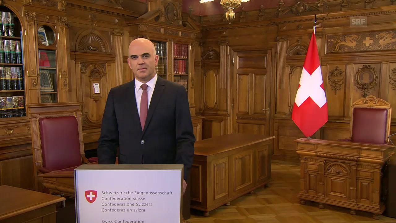 Berset: «Ich bin dankbar, in der Schweiz leben zu dürfen»