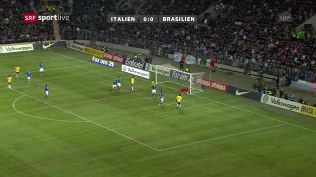 Testspiel Brasilien - Italien