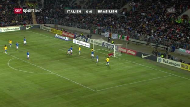 Video «Testspiel Brasilien - Italien» abspielen