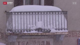 Video «Der Alpensüdhang versinkt im Schnee» abspielen