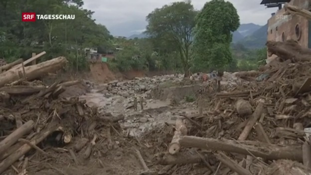 Video «Über 250 Todesopfer nach Schlammlawine» abspielen