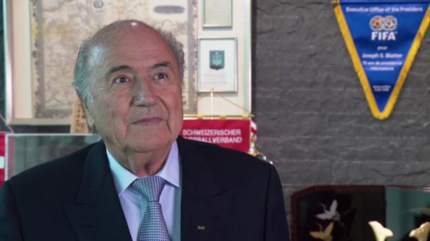 Video «Interview mit Sepp Blatter» abspielen