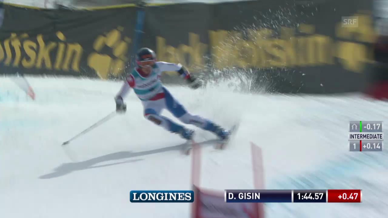 Ski Alpin: Riesenslalom auf der Lenzerheide, Der 2. Lauf von Dominique Gisin («sportlive», 16.03.2014)