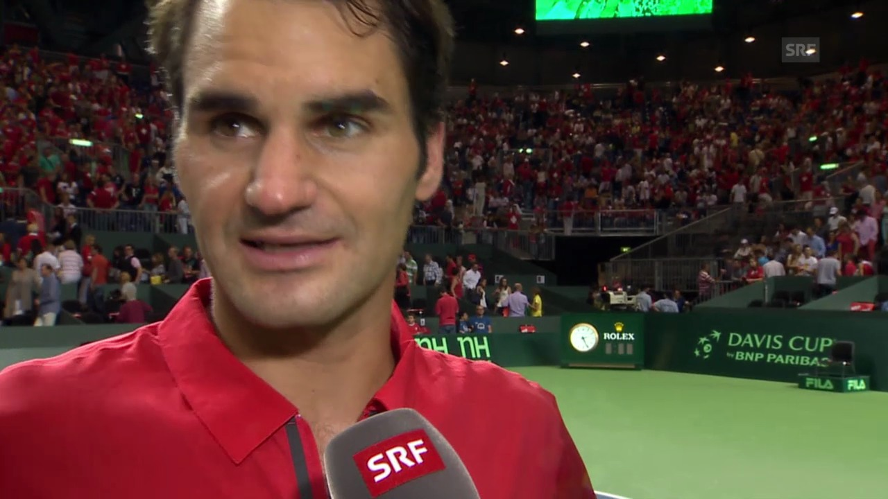 Tennis: Federer nach dem Final-Einzug