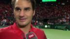 Video «Tennis: Federer nach dem Final-Einzug» abspielen