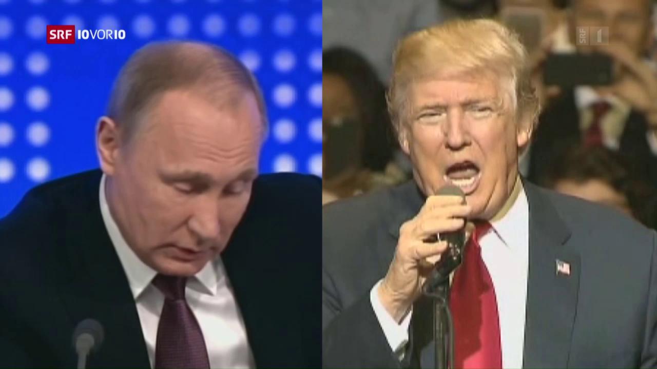 Donald Trump lobt die Reaktion von Russlands Präsident Putin