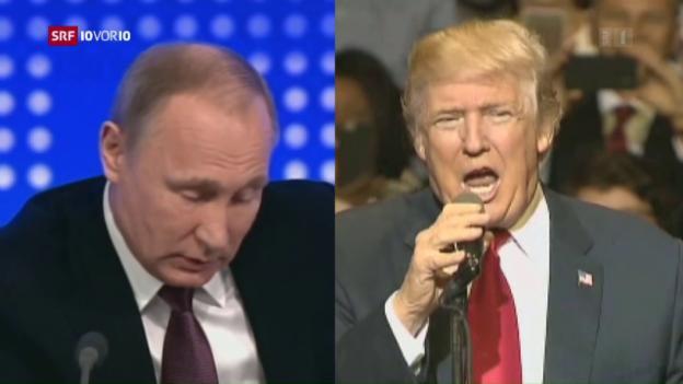 Video «Donald Trump lobt die Reaktion von Russlands Präsident Putin» abspielen