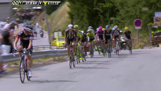 Video «Rad: Tour de France, 17. Etappe, Angriff M.Frank» abspielen