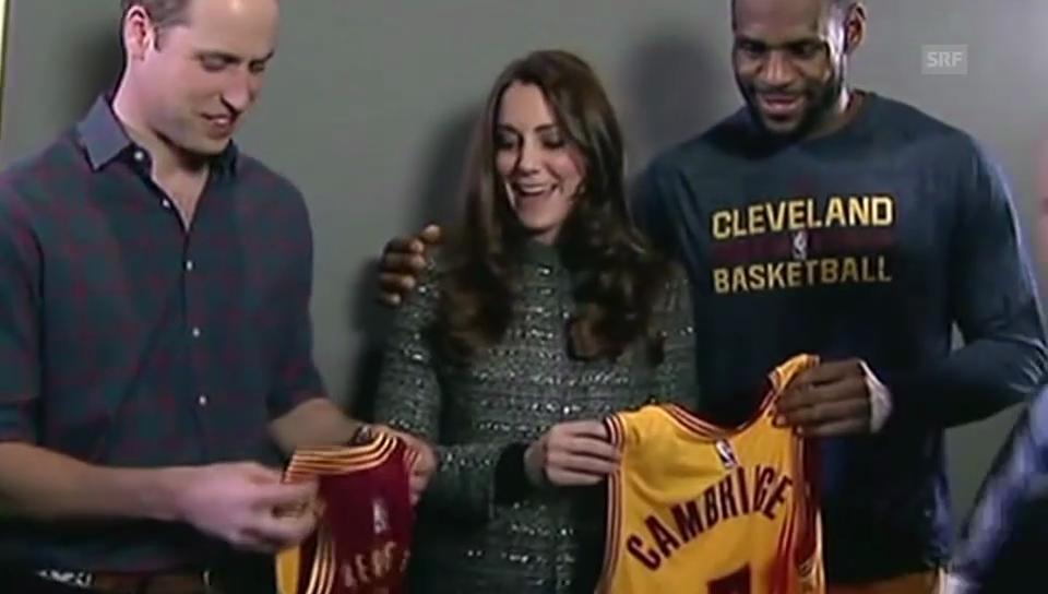 LeBron James überreicht Kate und William ein Geschenk für George
