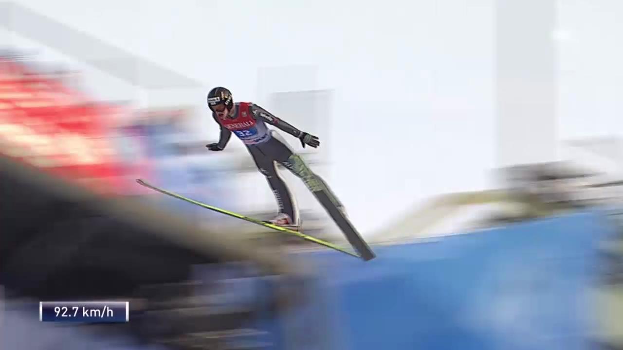 Skispringen: Vierschanzentournee Garmisch, Duell Deschwanden - Wank («sportlive» vom 1.1.2014)