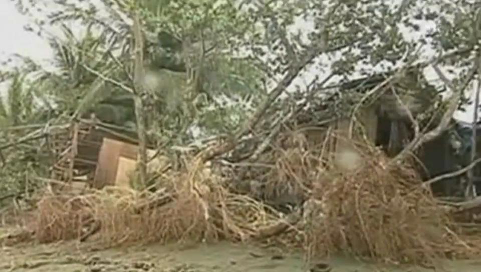 Taifun zieht über die Philippinen