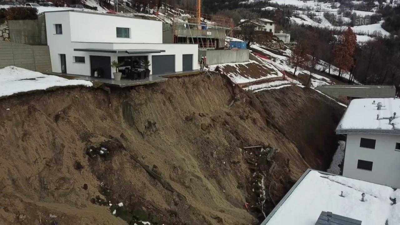 Haus am Abgrund: Der Erdrutsch in Savièse (5.1.2018)