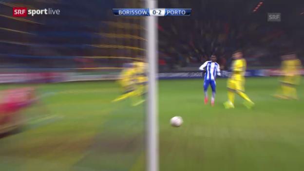Video «Fussball: CL, BATE Borissow-FC Porto» abspielen