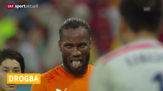 Video «Fussball: Drogba nicht mehr für die Elfenbeinküste» abspielen