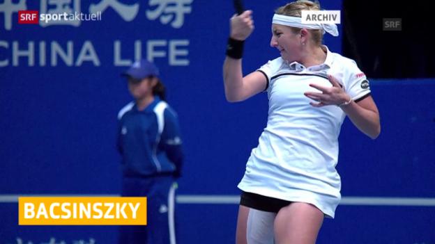 Video «Tennis: Saisonende für Timea Bacsinszky» abspielen