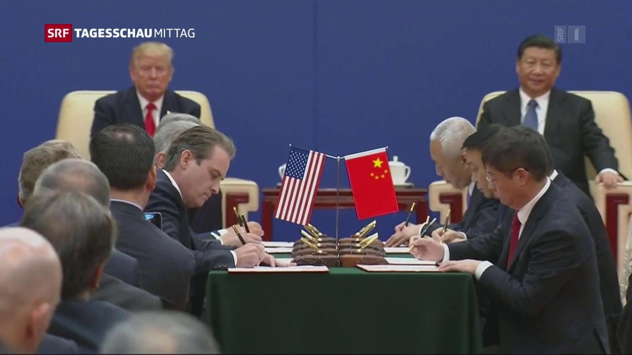 Washington und Peking unterzeichnen Rahmenabkommen