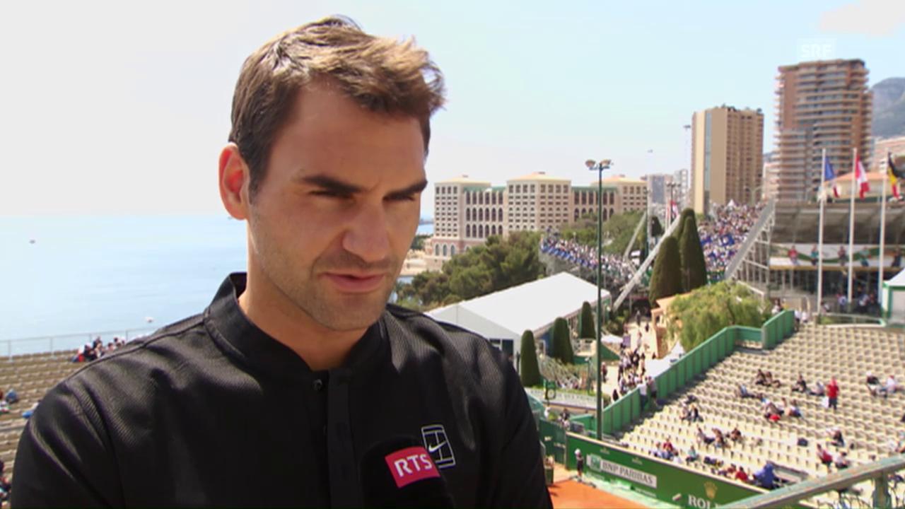 Interview mit Federer vor dem Start in Monte-Carlo