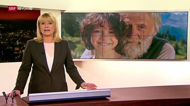 Video «Dreharbeiten zum neuen Heidi-Film (10vor10, 12.9.2014)» abspielen