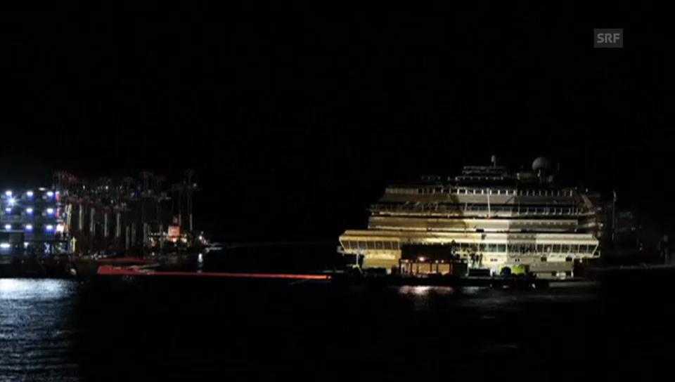 Die Bergung der «Costa Concordia» im Zeitraffer (unkommentiert)