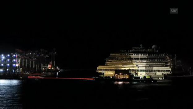 Video «Die Bergung der «Costa Concordia» im Zeitraffer (unkommentiert)» abspielen