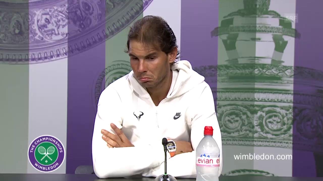 Tennis: Wimbleon, Nadal - Brown, Medienkonferenz Nadal (englisch)