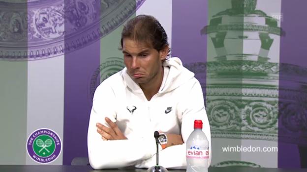 Video «Tennis: Wimbleon, Nadal - Brown, Medienkonferenz Nadal (englisch)» abspielen