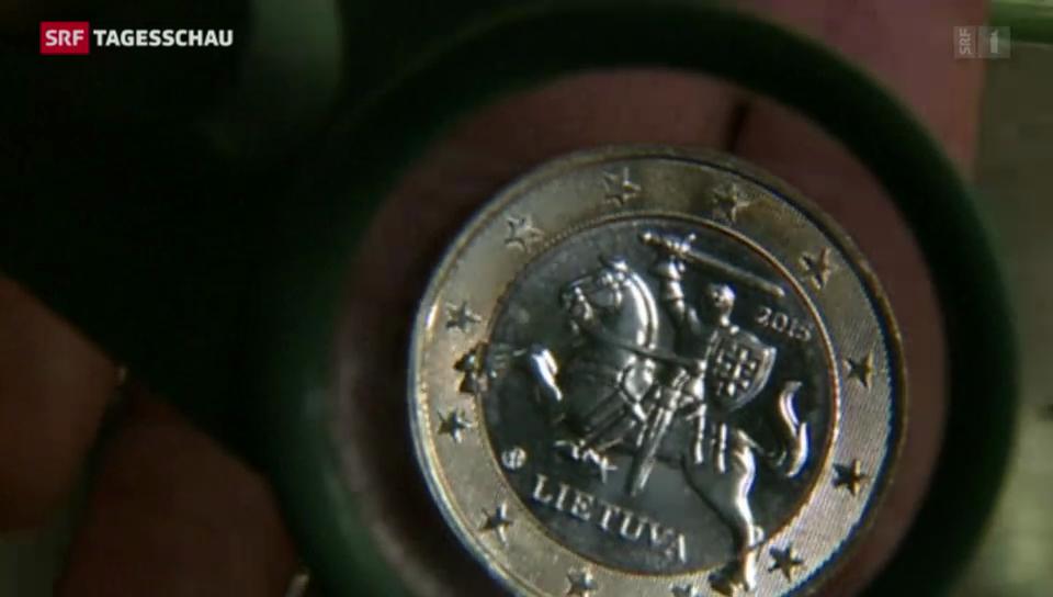 Litauen führt Euro ein