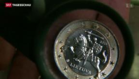 Video «Litauen führt Euro ein» abspielen