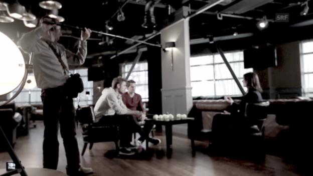 Video «Tennis: Roger Federer und Stan Wawrinka im Gespräch» abspielen