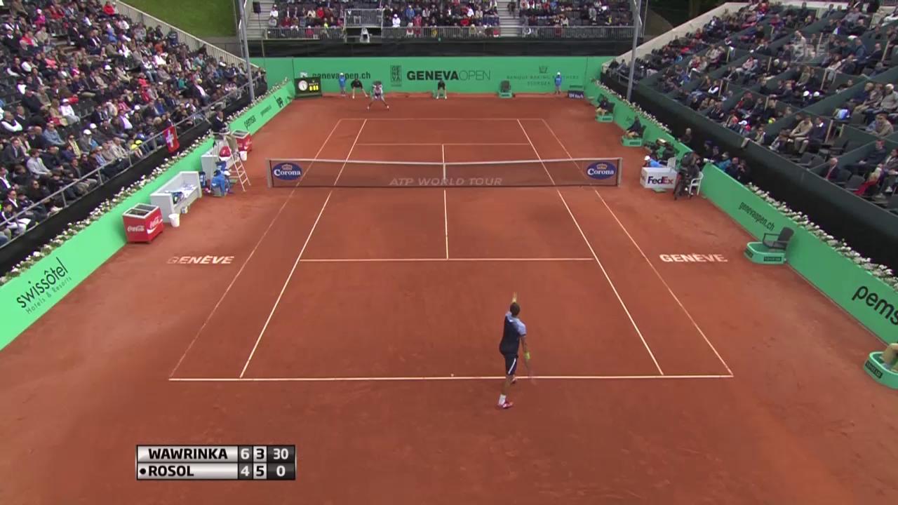 Tennis: ATP Genf, Wawrinka - Rosol