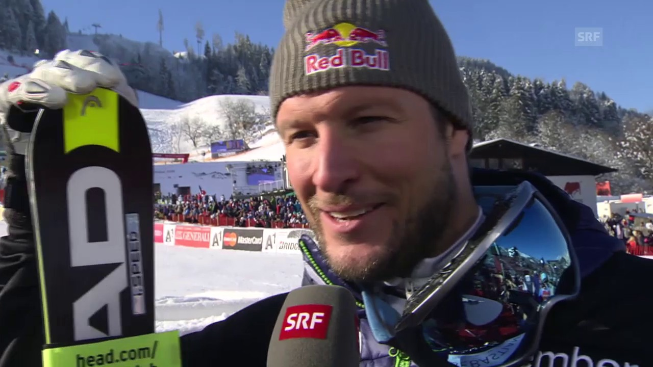 Aksel Svindal im Interview nach dem Super-G