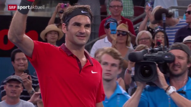 Video «Tennis: ATP Brisbane, Federer - Dimitrov («sportaktuell» vom 10.01.2015)» abspielen