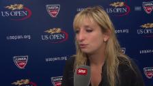 Video «Enttäuschte Bacsinszky: «Lepschenko hat super gespielt»» abspielen