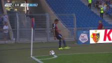 Video «Fussball, Superleague, Basel-FCZ, Unterbruch» abspielen