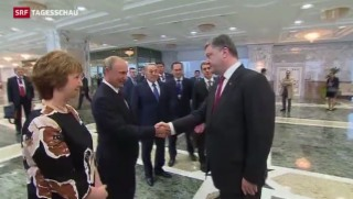 Video «Spitzentreffen zwischen Russland und Ukraine» abspielen