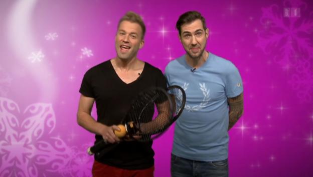 Video «Mit Prominenten hinter Adventstürchen» abspielen