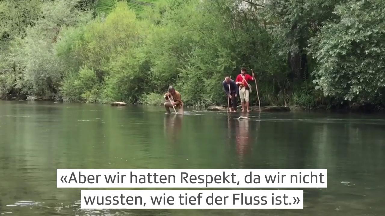 Barfuss durch den Fluss