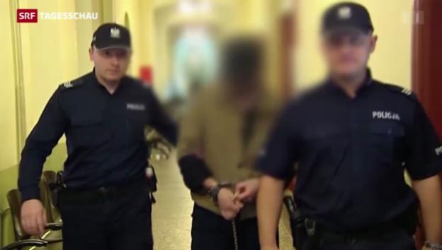 Video «Fabrice A. vor Auslieferung an die Schweiz» abspielen