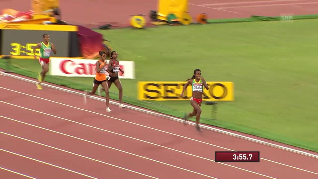 LA: WM Peking, Dibaba siegt über 1500 m