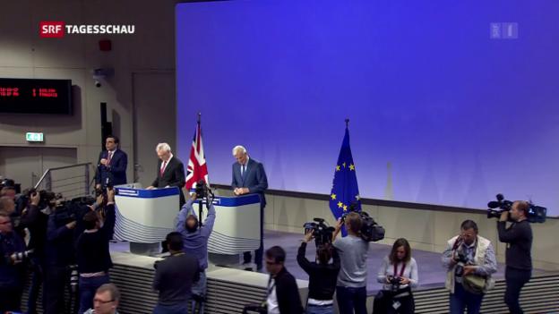 Video «EU beklagt «Blockade» bei Brexit-Verhandlungen» abspielen